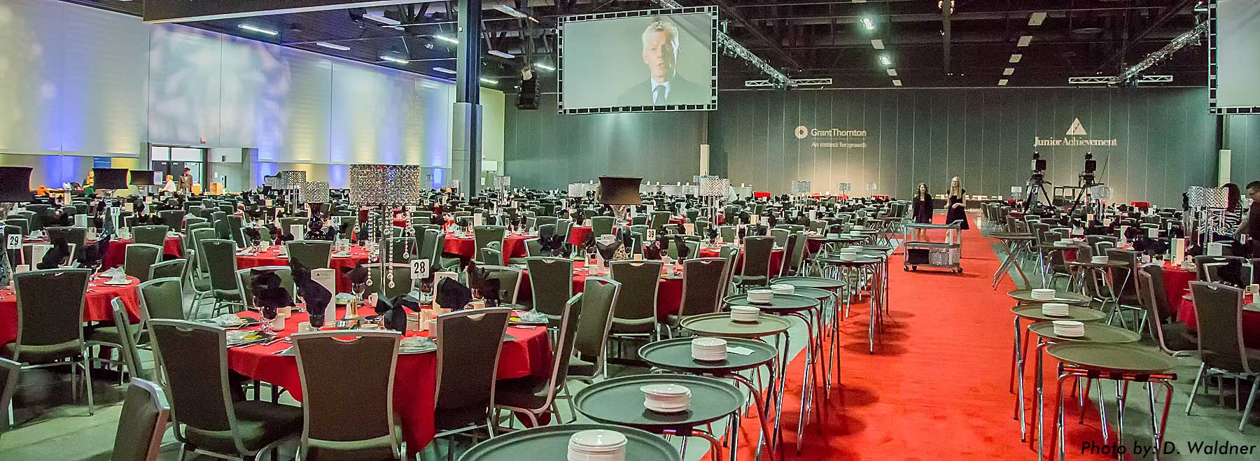 Junior Achievement Awards celebrating 50 years at the Edmonton Northlands Expo Centre Audio, Video, Lighting Production, support staff and set centre piece by Allstar Show Industries