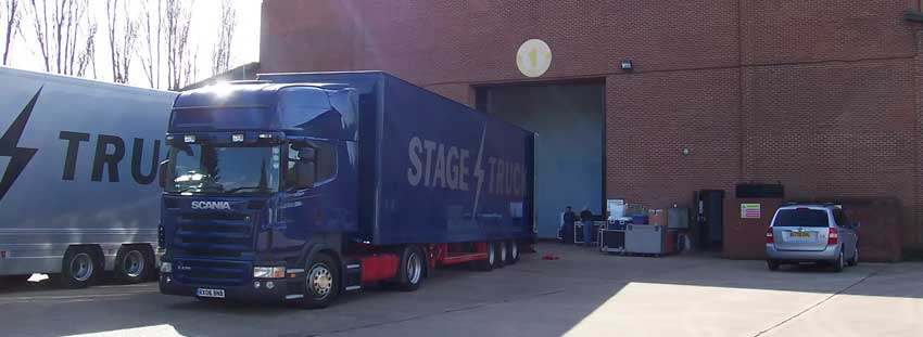 Loading out of Bray Studios near Maidenhead, Berkshire, England to Tour Europe with Loreena McKennitt - An ancient muse Tour Spring 2007