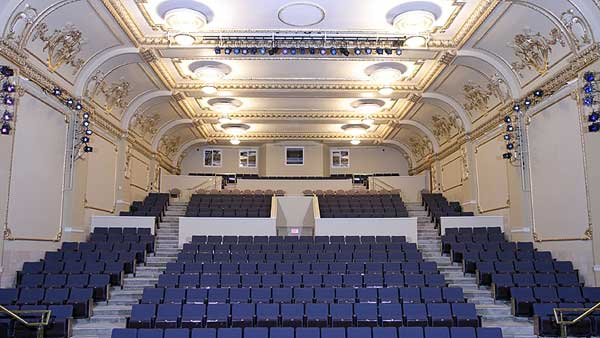Allstar Show Industries supplied and installed the production sound/playback system, program sound system, lobby sound system, communications and hearing assist system in the Mae Wilson Theatre.