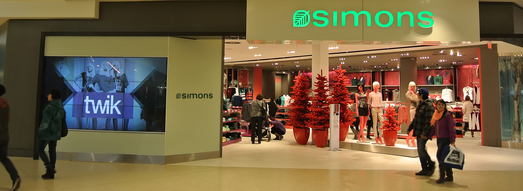 Simons at West Edmonton Mall Audio Equipment Supply and Installation by Allstar Show Industries.