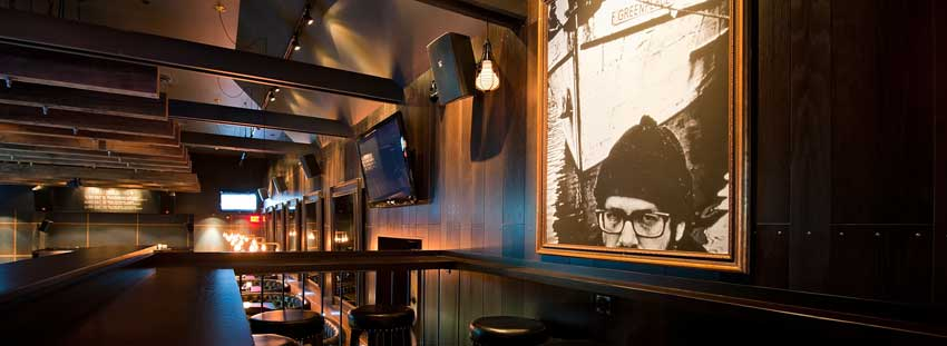 The Bimini Public House in Vancouver is just one of hundreds of hospitality clients where Allstar has installed audio and video solutions.