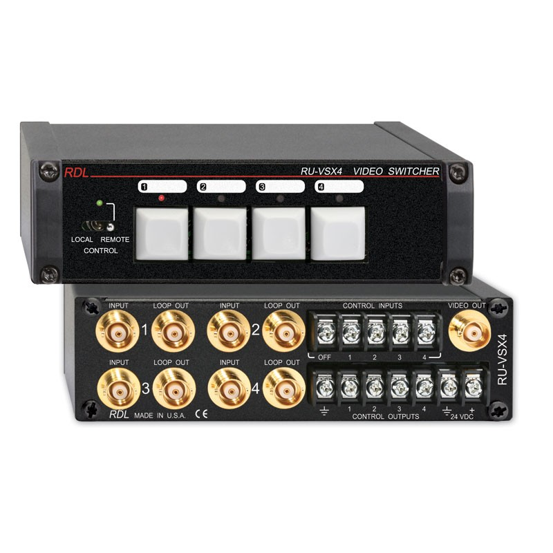 RDL RU-VSX4 Video Switcher 4x1 BNC