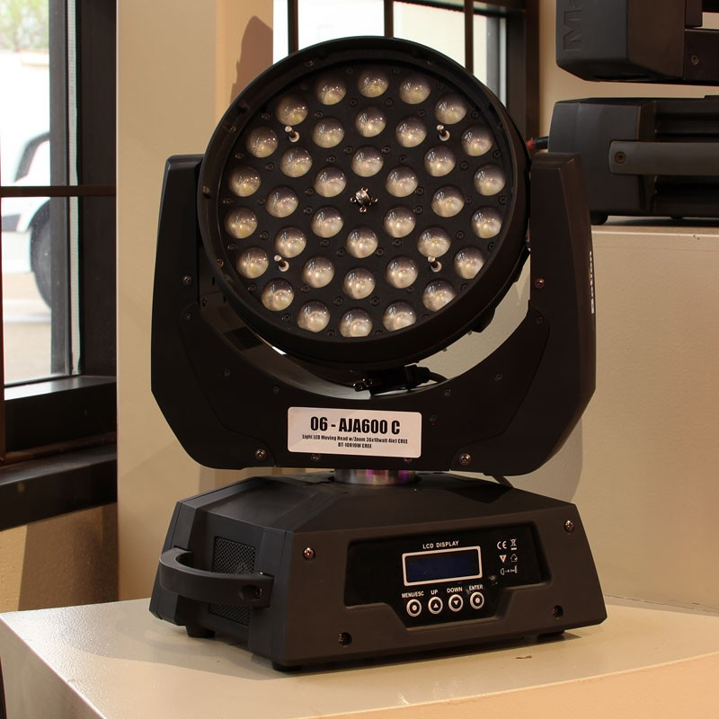 Used AJA600-C Moving Head with Zoom LED Light from Allstar Show Industries Ex Rental Inventory