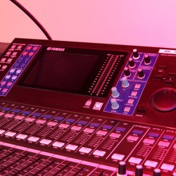 Used Yamaha LS9-32 Digital Mixing Console from Allstar Show Industries Ex Rental Inventory- close up 2