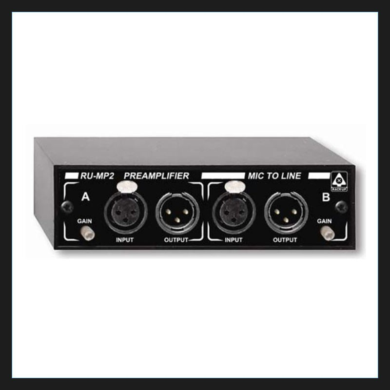Rdl Ru Mp2 Stereo Mic Preamplifier For Allstar Show Industries
