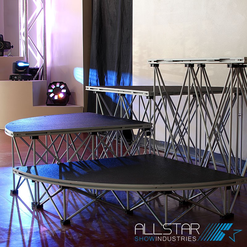 XL Stage quarter Round platforms and risers display