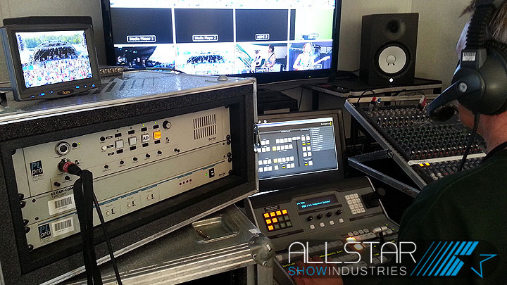 Entertainment, DJ and theatrical lighting equipment pick up rentals for Allstar.