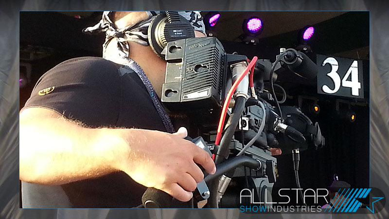 Camera operator at the 34th Edmonton Folk Music Festival.