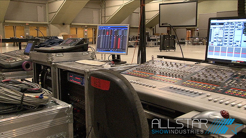 Front of House audio set-up for Break Forth 2013 at the Shaw Conference Centre Edmonton.