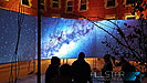 The video wall at the University of Alberta's Green & Glow Winterfest