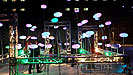 The Lister Light Garden facricated from truss at the University of Alberta's Green & Glow Winterfest