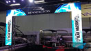Allstar's LED panels on a video arch in Martin Mortor Sports Trade Show Booth.