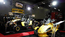 Martin Motor Sports trade show booths with truss, rigging, video and lighting by Allstar Show Industries.