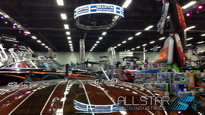 Martin Motor Sports Trade Show Booths.