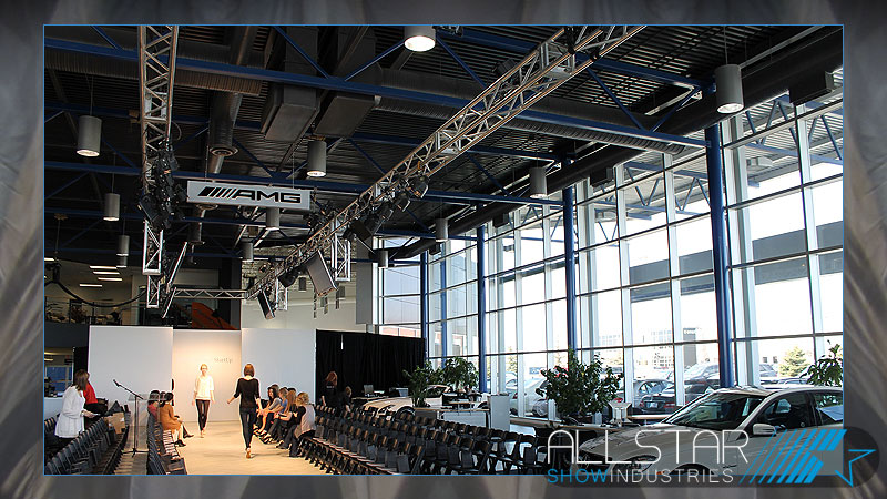 Rehearsal for Mercedes-Benz Start Up at David Morris Fine Cars Edmonton.