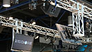Truss speakers lights and video displays for Mercedes-Benz Start Up Edmonton.