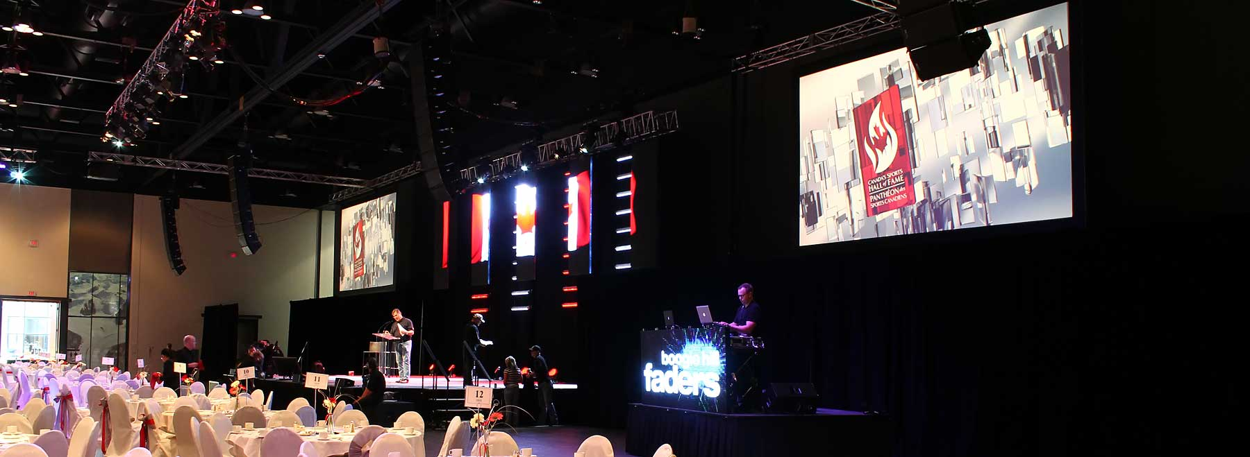 Canada's Sports Hall of Fame event, Sound, Video and Lighting by Allstar Show Industries
