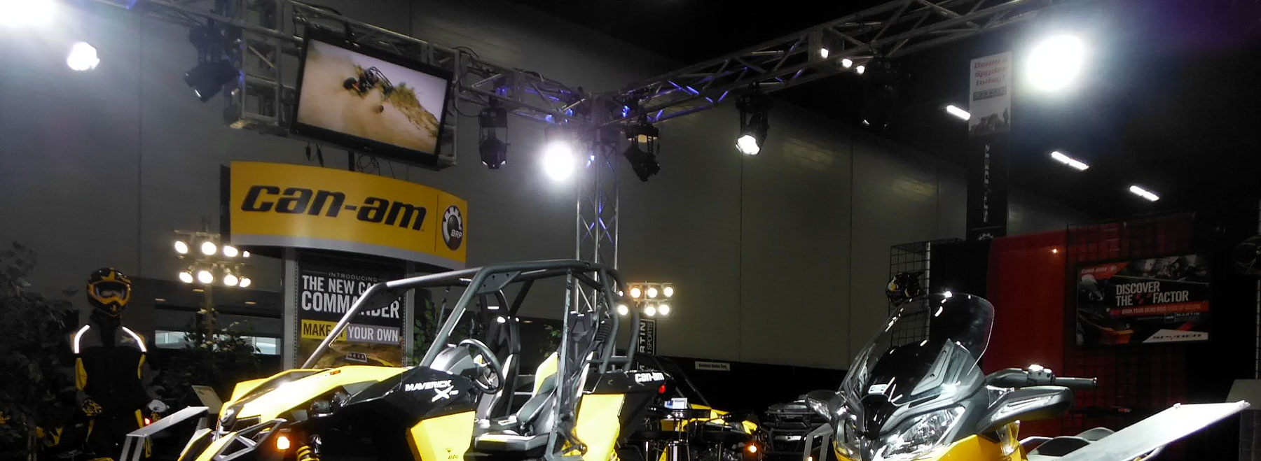 Trade show exhibits come to life with audio, video, lighting and staging from Allstar Show Industries.