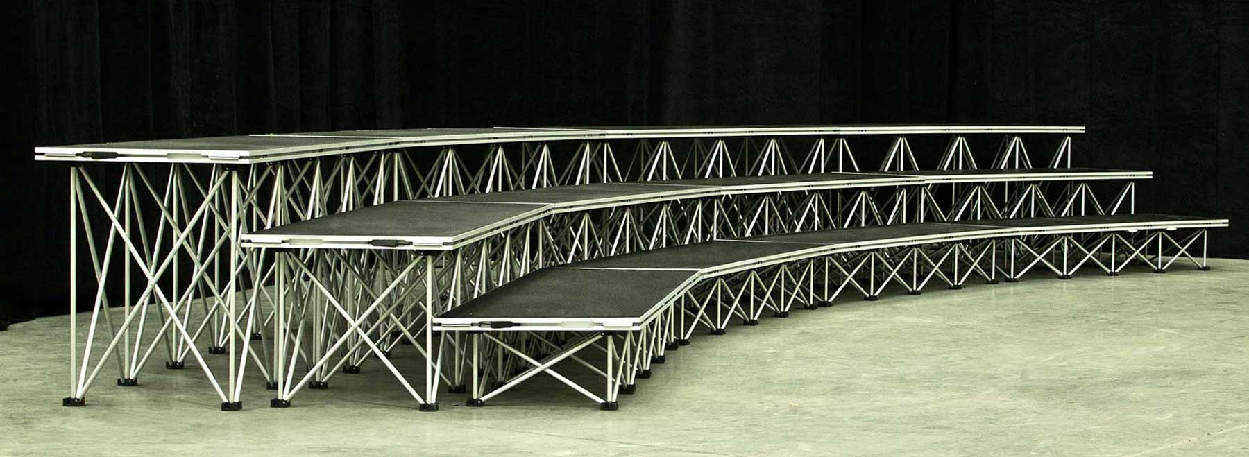 XL Stage choir riser set up from Allstar Show Industries is mudukar staging made simple