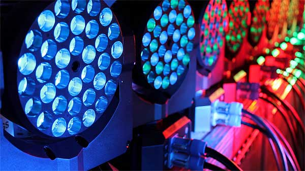 A sampling of Lighting Dry Hire rental equipment available from Allstar Show Industries