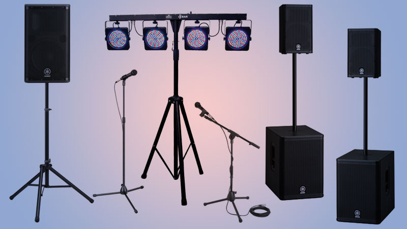 Audio video lighting Pick Up Rental packages at Allstar Show Industries