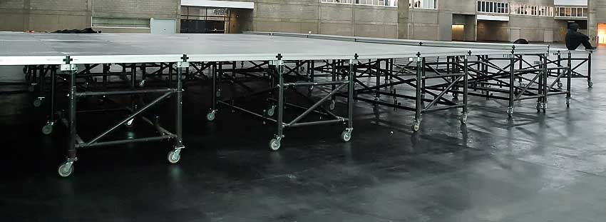 Allstar has a staging solutions available for Dry Hire Rentals.
