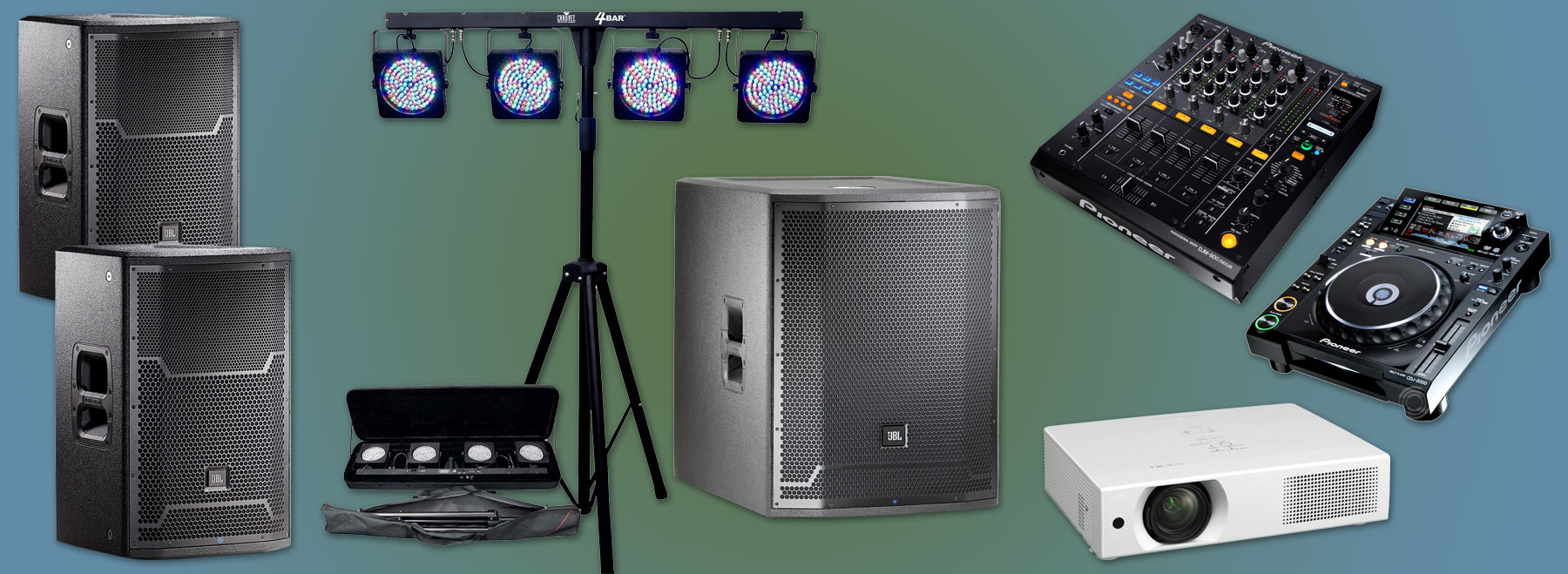 Audio Video Lighting Pick up Rental Packages are available from Allstar Show Industries Edmonton and Calgary