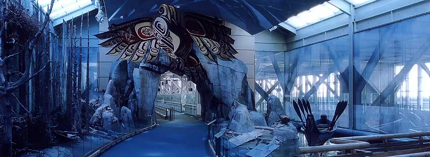Vancouver Airport International arrivals hall themed attraction audio supplied and installed by Allstar Show Industries.