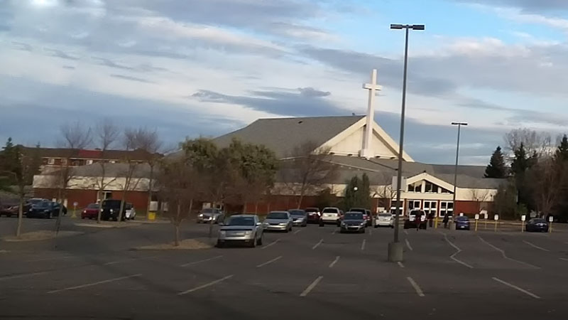 Beulah Alliance Church viewed from across the parking lot