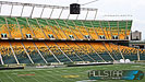 Looking out at the east side of Edmonton's Commonwealth Stadium.