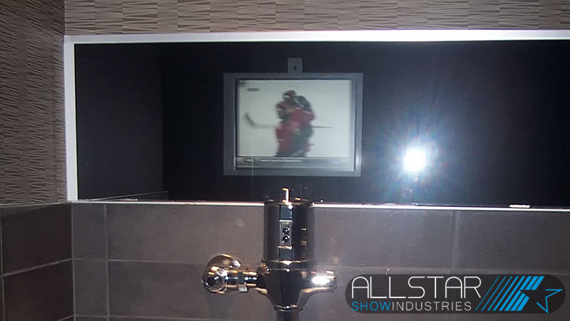 Yes, video in the rest rooms so no one has to miss out on the action