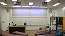 Typical classroom audiovisual, control system and related furnature supplied and installed by Allstar Show Industries at MacEwan University.