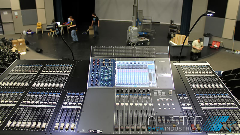 Yamaha M7CL-48 Digital Mixing Console at Maclab Centre for the Performing Arts FOH.