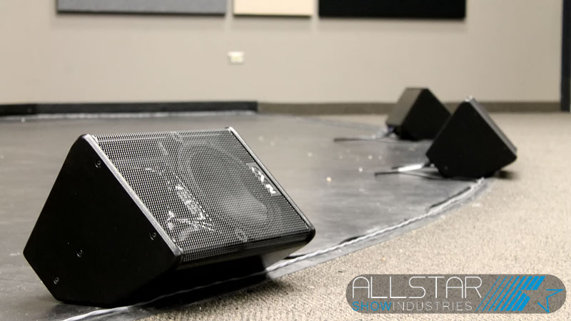NEXO speakers at the Maclab Centre for the Performing Arts Leduc, Alberta, Canada.