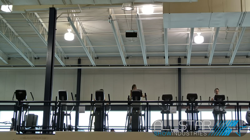 Typical classroom projector hang supply and installation by Allstar Show Industries at MacEwan University.