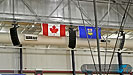 The main Kenyon Gymnasium system consists of six Meyer Sound M1D Line Arrays hanging from motors.