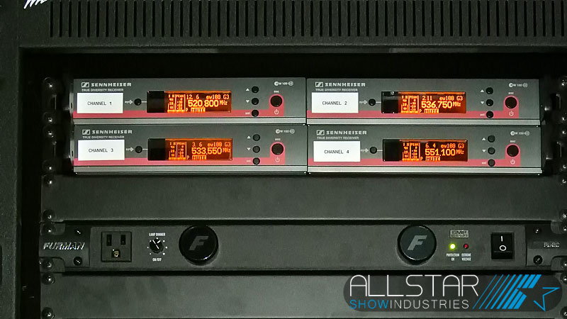 Sennheiser wireless and Furman power conditioner