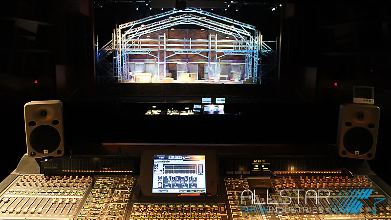 Looking out from the sound booth at the Northern Alberta Jubilee Auditorium
