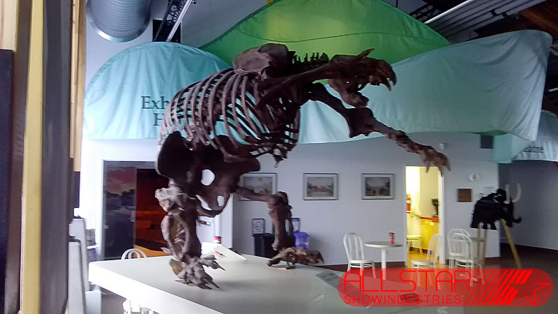 Ground sloth, Yukon Beringia Interpretive Centre A/V & web streaming systems replacement.