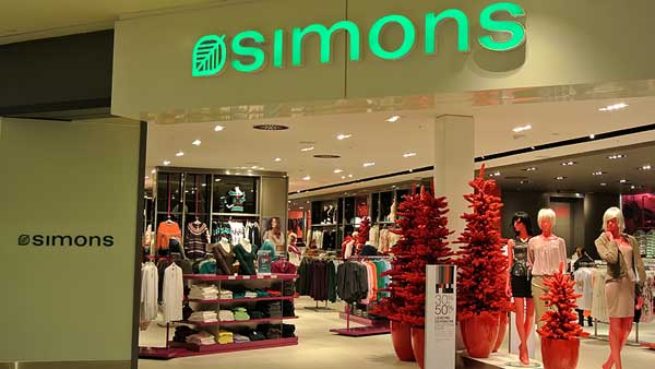 Didtributed multi zone sound system installation at Simons West Edmonton Mall by Allstar Show Industries