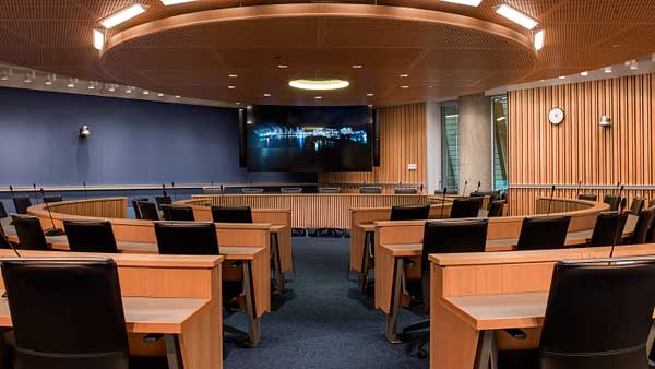University of British Columbia Vancouver campus AMS SUB building integrated audio video and control systems supplied and installed by Allstar Show Industries