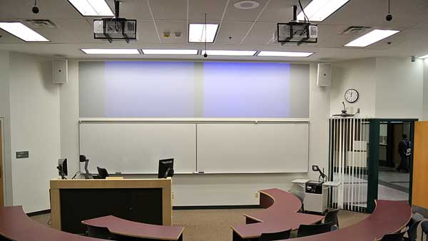 A typical classroom Audio Visual and control system supply, installation and programming at Grant MacEwan University by Allstar Show Industries