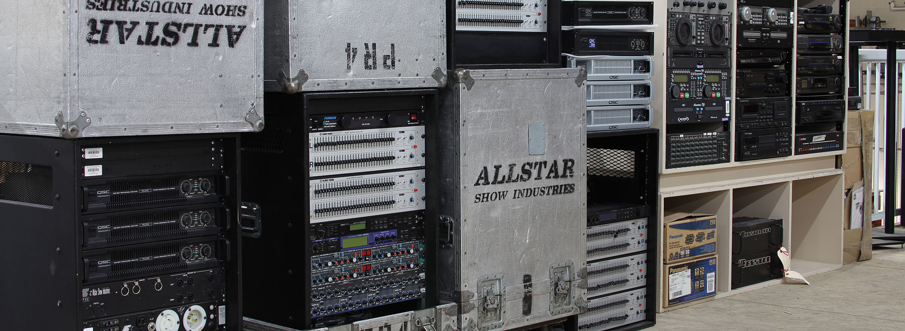 The Loft at Allstar Edmonton where you can find great deels on well maintained Used Audio Video and Lighting Equipment.
