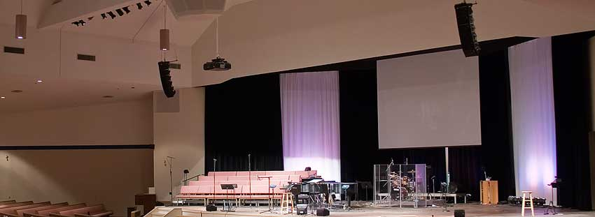 Beulah Alliance Church was equipped with a new NEXO Yamaha sound system by Allstar's sales and installation team.