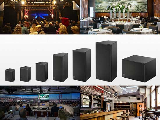 d&b contracting and installation products for live performance venues, restaurants, hotel ballrooms, conference centres and lounges.