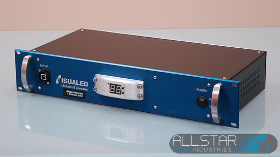 Used LEDtalk GB 2U Visualed rackmount controller front view.