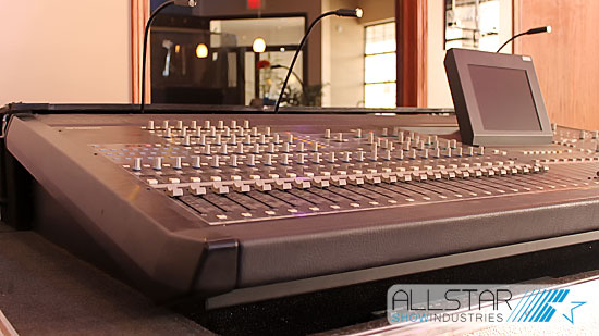 On display at Allstar Edmonton one of our used Yamaha PM5D-RH digital mixing consoles.